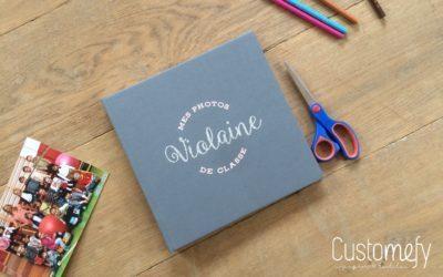 Album Atelier VO personnalisé pour photos de classe