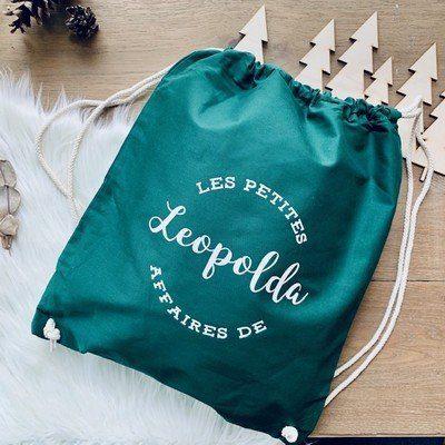 sac de gym personnalisé vert bouteille