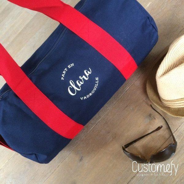 sac polochon standard bleu et rouge