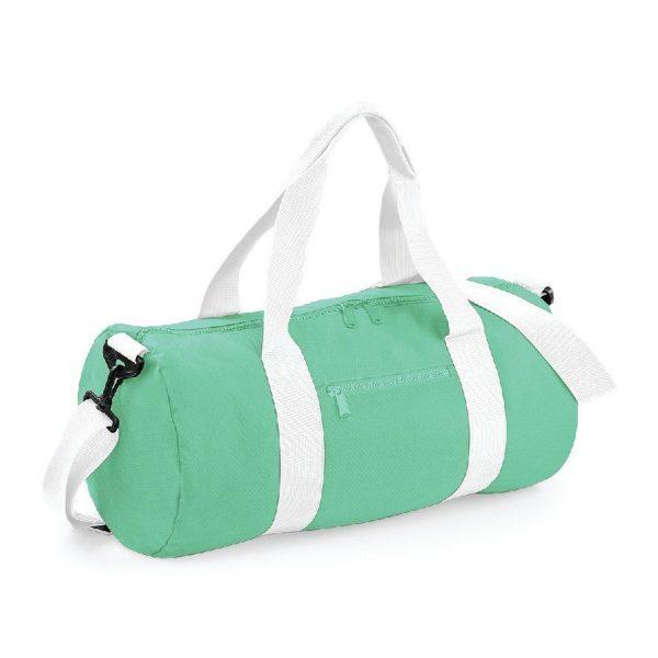 sac polochon standard menthe et blanc