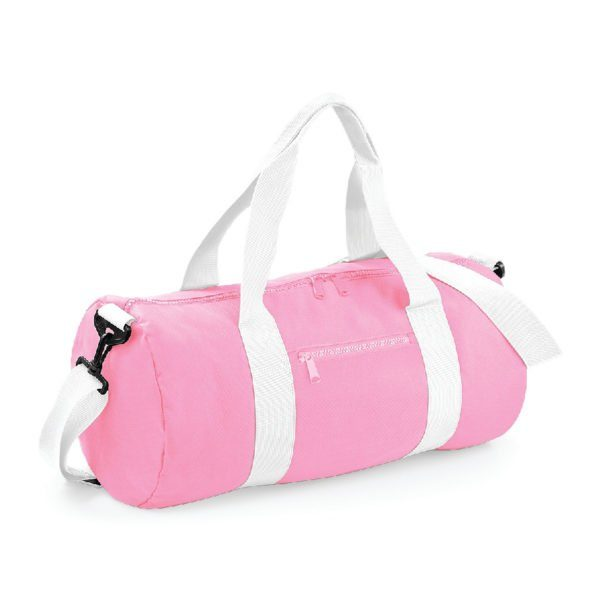 sac polochon standard rose et blanc