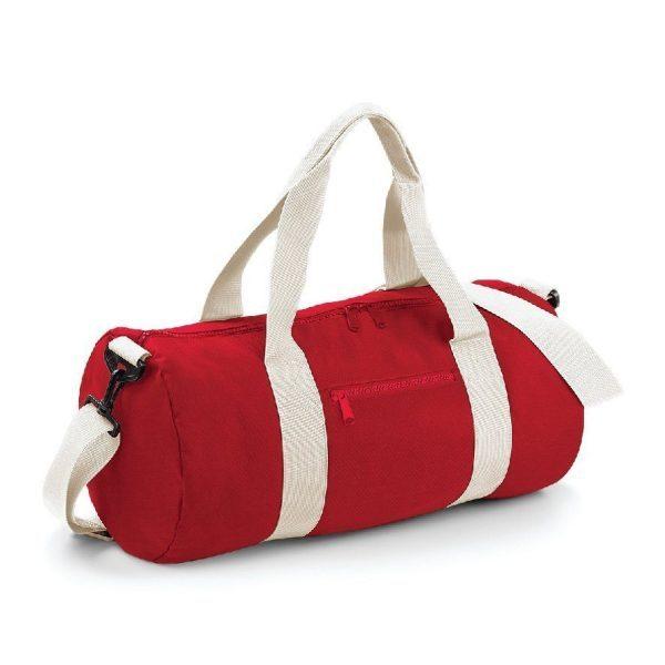 sac polochon standard rouge et écru