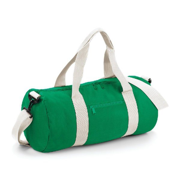 sac polochon standard vert et écru