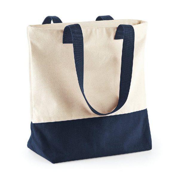 sac shopping bleu personnalisé