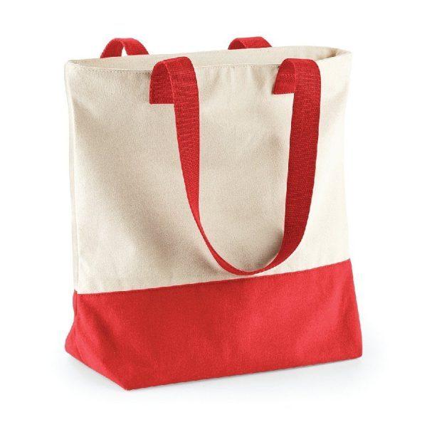 sac shopping corail personnalisé