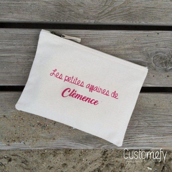 pochette personnalisée les petites affaires de Clémence