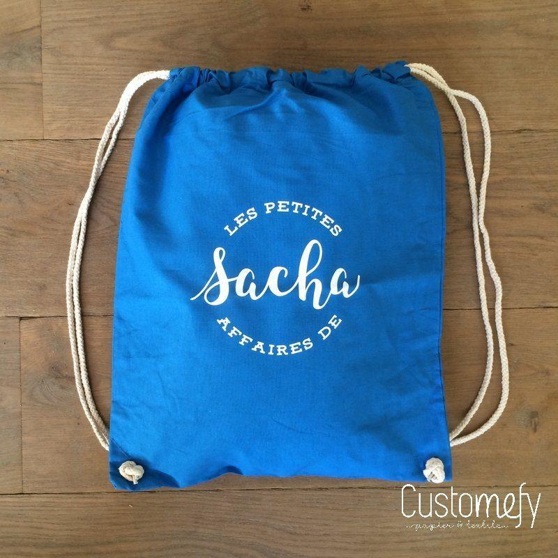 sac de gym personnalisé bleu