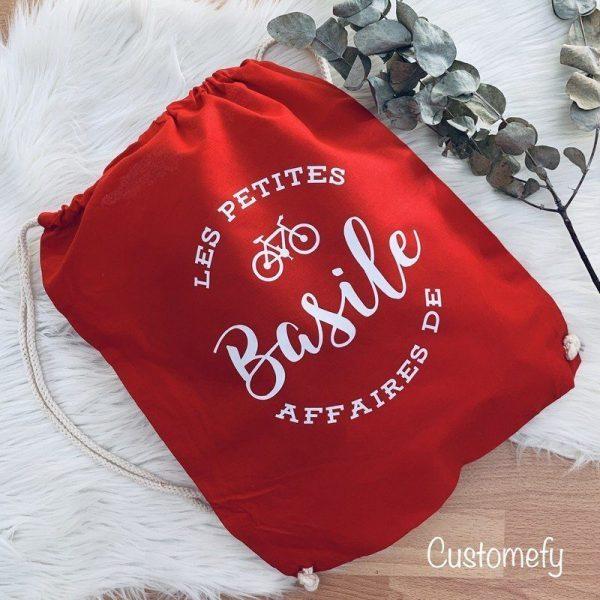 sac de gym personnalisé rouge