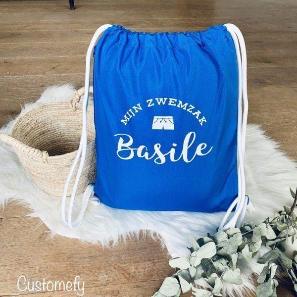 sac de piscine personnalisé bleu