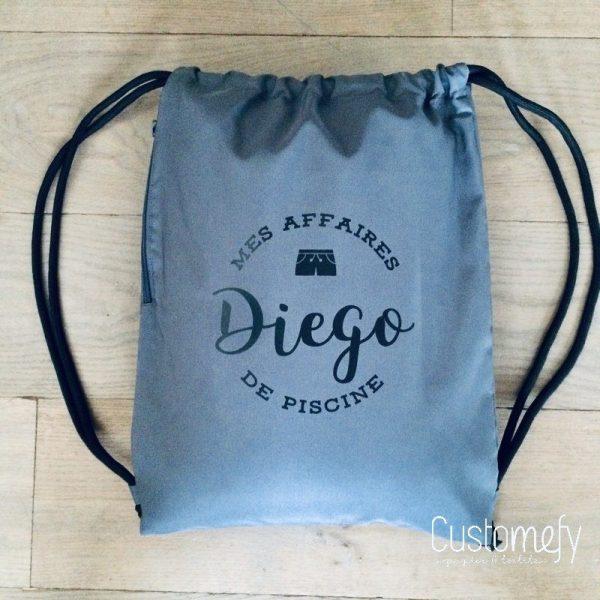 sac de piscine gris personnalisé
