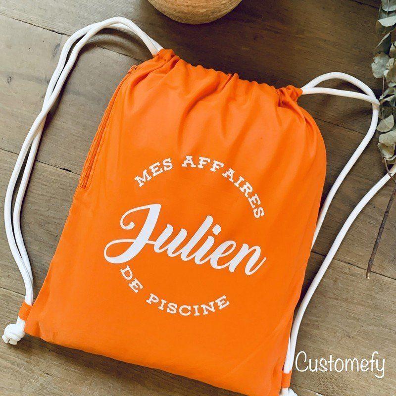 sac de piscine orange personnalisé