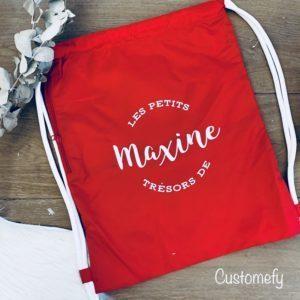 sac de piscine personnalisé rouge