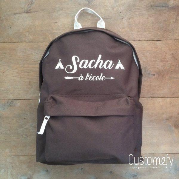 sac à dos brun chocolat