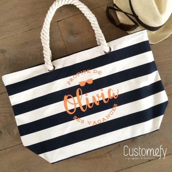 sac de plage personnalisé
