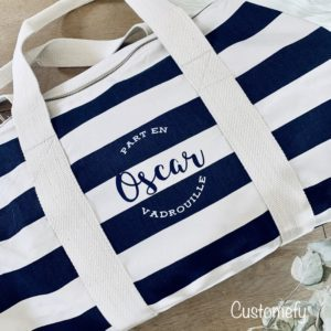 sac polochon nautique personnalisé