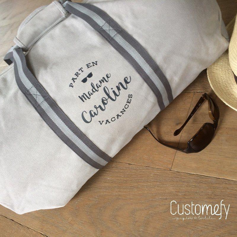 sac de voyage personnalisé